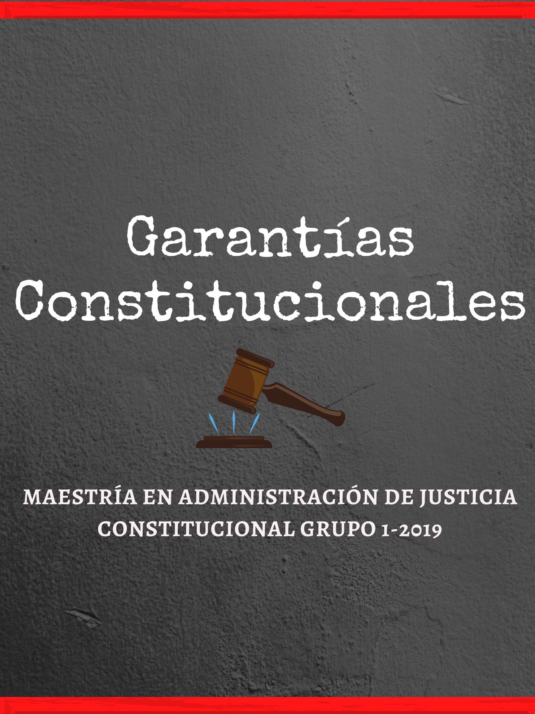 MAJC-214-21-01 Garantías Constitucionales