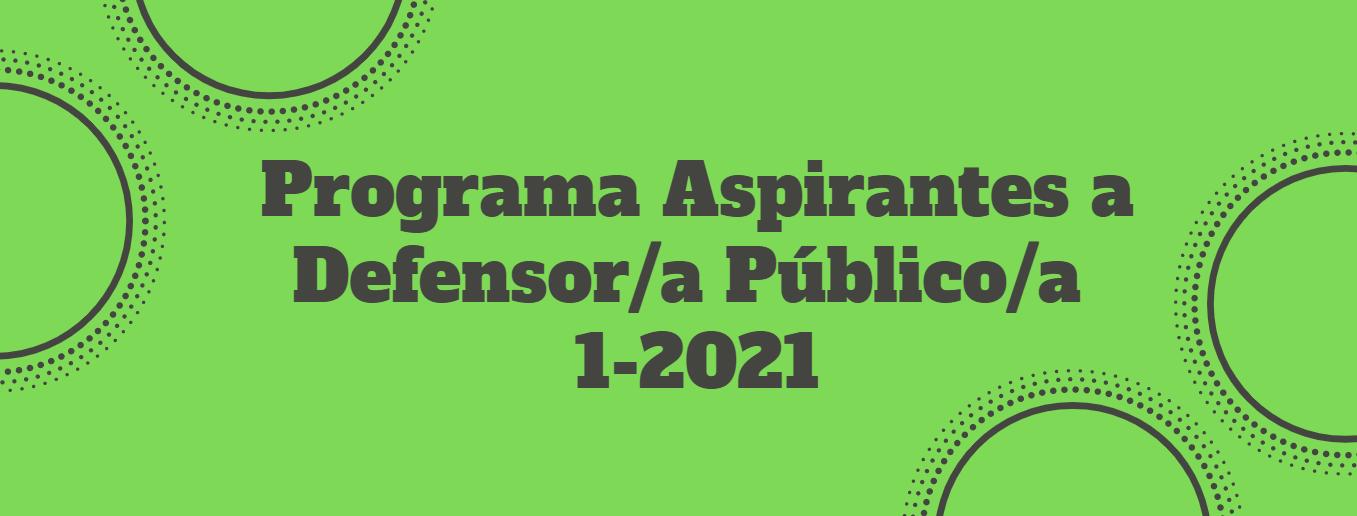 Programa Aspirantes a Defensor/a Público/a 1-2021 (General)