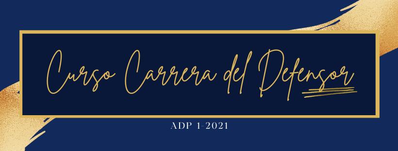 Carrera del Defensor ADP-1-2021